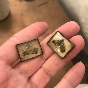 Men's Rare Thoroughbred Horse VINTAGE Cufflinks